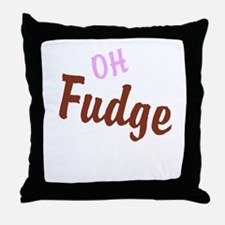 Oh Fudge Throw Pillow