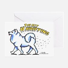 Samoyed Hairifying Greeting Card