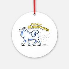 Samoyed Hairifying Ornament (Round)