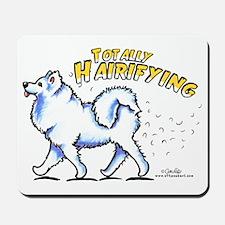 Samoyed Hairifying Mousepad