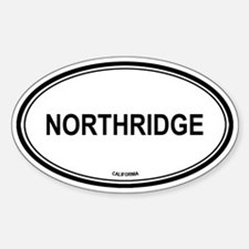 Northridge oval Oval Decal