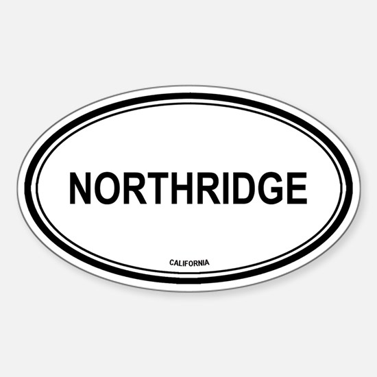 Northridge oval Oval Decal
