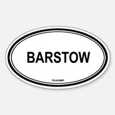 Barstow oval Oval Decal