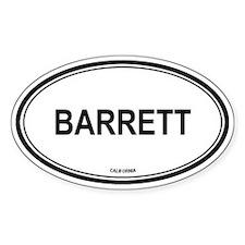 Barrett oval Oval Decal