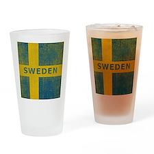 Vintage Sweden Drinking Glass