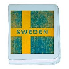 Vintage Sweden baby blanket