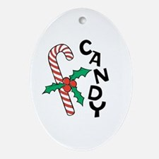 Candy Cane Ornament (Oval)