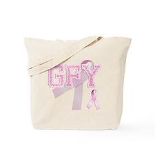 GFY initials, Pink Ribbon, Tote Bag