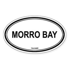 Morro Bay oval Oval Decal