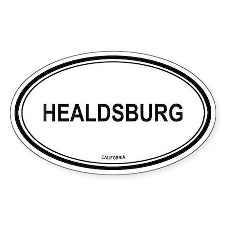 Healdsburg oval Oval Sticker