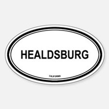 Healdsburg oval Oval Decal