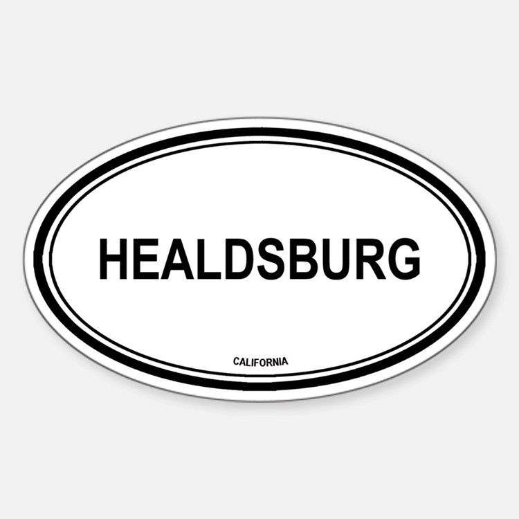 Healdsburg oval Oval Decal