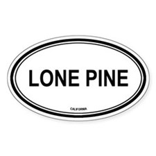 Lone Pine oval Oval Decal