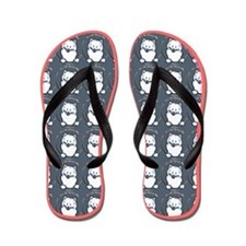 Samoyed All About Me Sea Coral Flip Flops