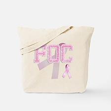 FOC initials, Pink Ribbon, Tote Bag