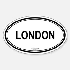 London oval Oval Decal