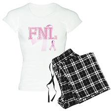 FNL initials, Pink Ribbon, Pajamas