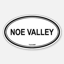 Noe Valley oval Oval Decal