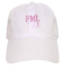 FML initials, Pink Ribbon, Baseball Cap