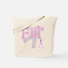 FIT initials, Pink Ribbon, Tote Bag