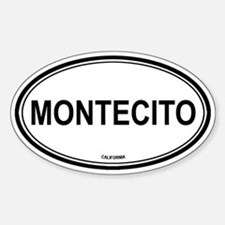 Montecito oval Oval Decal