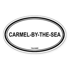 Carmel-By-The-Sea oval Oval Decal
