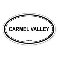 Carmel Valley oval Oval Decal