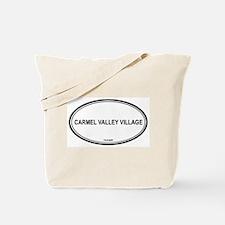 Carmel Valley Village oval Tote Bag