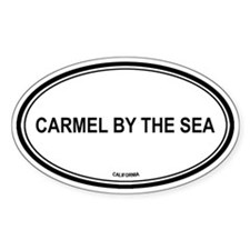 Carmel By The Sea oval Oval Decal