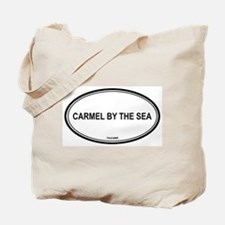 Carmel By The Sea oval Tote Bag