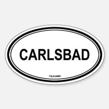 Carlsbad oval Oval Decal