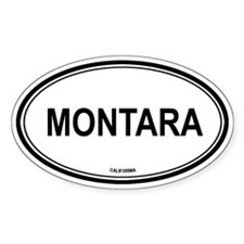 Montara oval Oval Decal