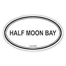 Half Moon Bay oval Oval Decal