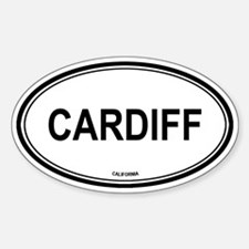 Cardiff oval Oval Decal