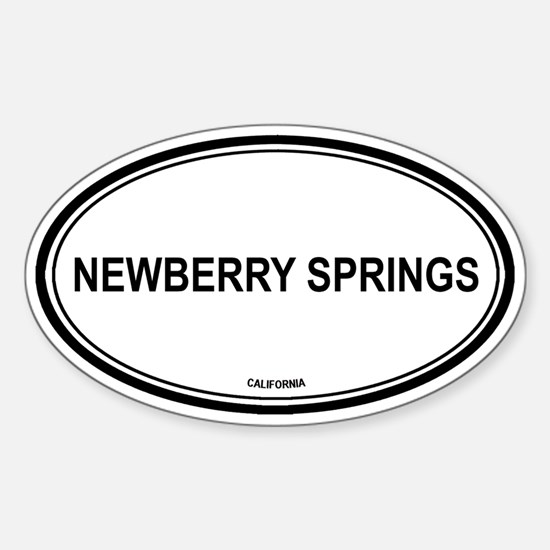 Newberry Springs oval Oval Decal
