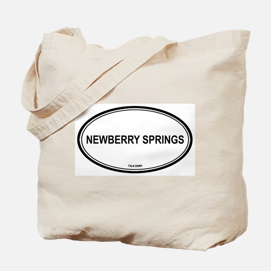 Newberry Springs oval Tote Bag