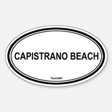 Capistrano Beach oval Oval Decal