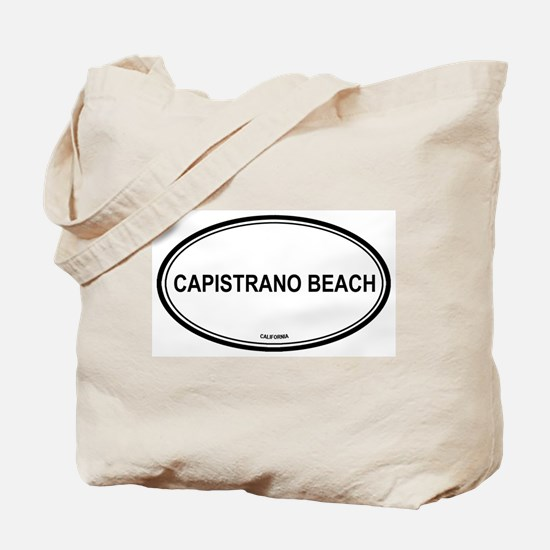 Capistrano Beach oval Tote Bag