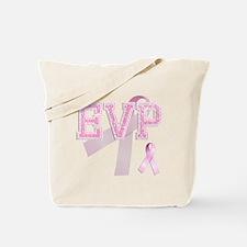 EVP initials, Pink Ribbon, Tote Bag
