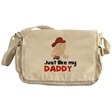 Just Like Daddy Fire Fighter Messenger Bag