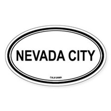Nevada City oval Oval Decal