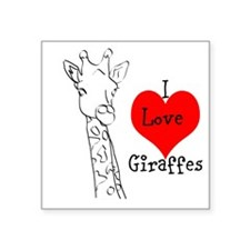 "Giraffes Square Sticker 3"" x 3"""