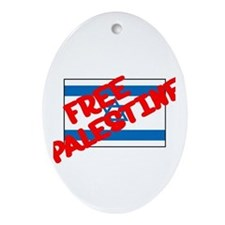 Free Palestine Oval Ornament