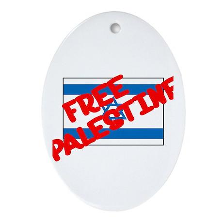 Free Palestine Oval Ornament