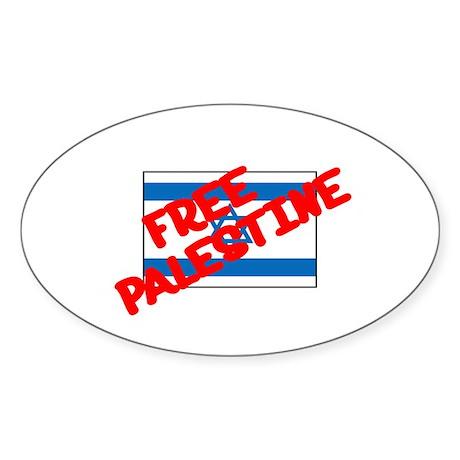 Free Palestine Oval Sticker