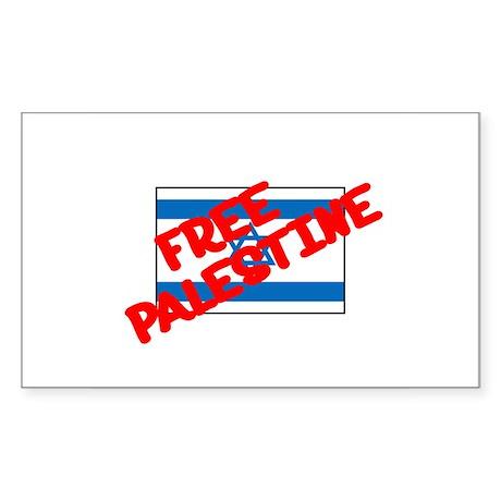 Free Palestine Rectangle Sticker