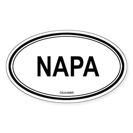 Napa oval Oval Sticker