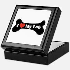 I Love My Lab - Dog Bone Keepsake Box