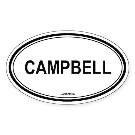 Campbell oval Oval Sticker