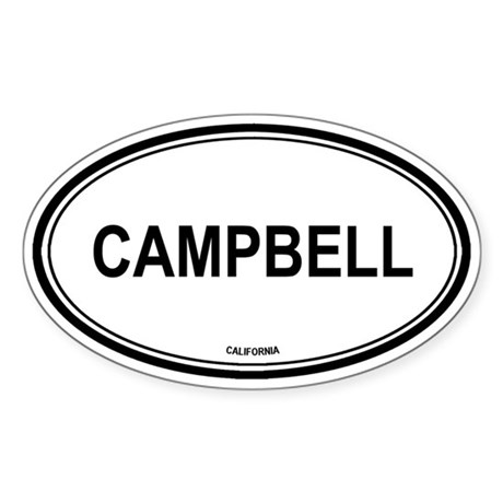 Campbell oval Oval Sticker